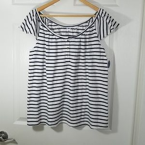 OLD NAVY Striped Flutter- Sleeve Top
